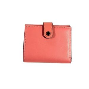 Coach Small Pink Leather Trifold Wallet